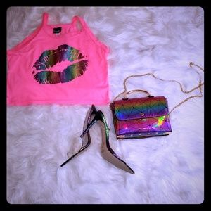 Heel and purse set